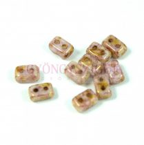 Ios® par Puca®gyöngy - white rose bronze luster - 5.5x2.5 mm