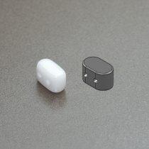 Ios® par Puca®gyöngy - white - 5.5x2.5 mm