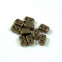 Ios® par Puca®gyöngy - golden bronze - 5.5x2.5 mm
