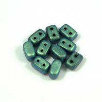 Ios® par Puca®gyöngy - polichrome aqua teal - 5.5x2.5 mm