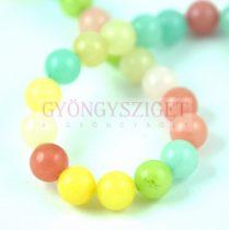 Jade gyöngy - candy - színezett - 8mm - szálon