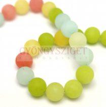 Jade gyöngy - candy - színezett - matt - 8mm - szálon