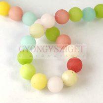 Jade gyöngy - matt mix - 8mm - szálon