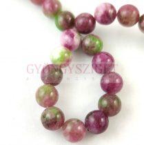 Jade gyöngy - színezett - Purple Green - 8mm - szálon (kb. 45 db/szál)