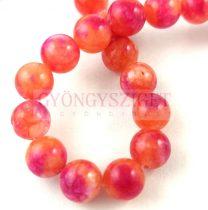 Jade gyöngy - színezett - Peach Cherry - 8mm - szálon (kb. 45 db/szál)