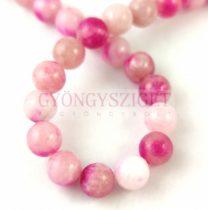Jade gyöngy - színezett - Pink Cherry - 8mm - szálon (kb. 45 db/szál)
