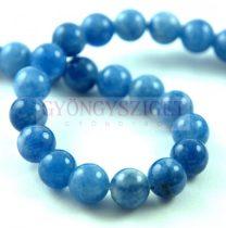 Jade gyöngy - színezett - Blue - 8mm - szálon (kb. 45 db/szál)