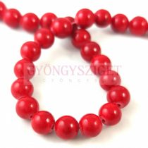 Jade - round bead - dyed - faceted - Chilli - 6mm - strand