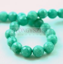 Jade gyöngy - színezett - csiszolt - Zöld - 8mm - szálon (kb. 45 db/szál)