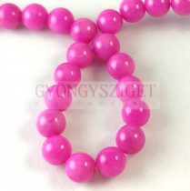 Jade - round bead - dyed - faceted - Fuchsia - 8mm - strand