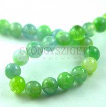 Jade gyöngy - színezett - Green Blend - 8mm - szálon (kb. 45 db/szál)