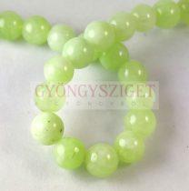 Jade gyöngy - színezett - Lime - 8mm - szálon (kb. 45 db/szál)