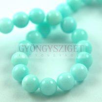 Jade gyöngy - színezett - Light Turquoise Green - 8mm - szálon (kb. 45 db/szál)