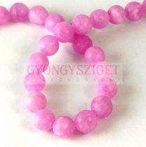 Jade gyöngy - színezett - matt - Rose Candy - 8mm - szálon (kb. 45 db/szál)