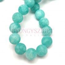 Jade gyöngy - színezett - matt - Turquoise - 8mm - szálon (kb. 45 db/szál)