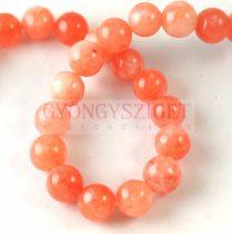 Jade gyöngy - színezett - Orange - 8mm - szálon (kb. 45 db/szál)
