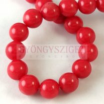 Jade - round bead - dyed - Padparadscha - 8mm - strand