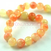 Jade - round bead - dyed - Peach Blend - 8mm - strand