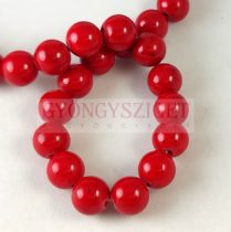 Jade - round bead - dyed - Red - 8mm - strand