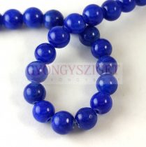 Jade - round bead - dyed - Royal Blue - 8mm - strand