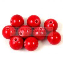 Jáde gyöngy - Piros - 10mm