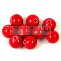 Jáde gyöngy - Piros - 6mm