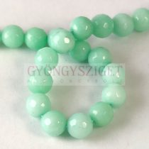 Malaysian Jade - round bead - dyed - faceted - Mint - 8mm - strand