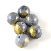 Mashan Jáde gyöngy arany lüszter - Gray - 10mm