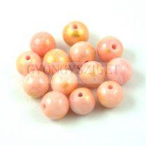 Mashan Jáde gyöngy arany lüszter - Pink - 6mm