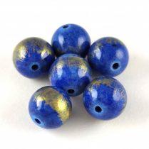 Mashan Jáde gyöngy arany lüszter - Royal Blue - 10mm
