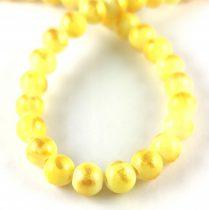 Mashan Jáde gyöngy arany lüszter - Yellow - 8mm