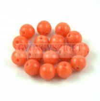 Mashan Jáde gyöngy - fényes - Narancs - 6mm