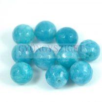 Jádekvarc gyöngy - kék - csiszolt - 6mm
