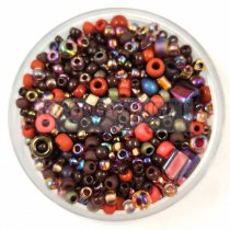 Japanese mixed beads - Brown - 10g