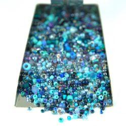 Japán gyöngy mix -  blue - 30g