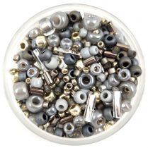 Japanese mixed beads - Silver Gray - 10g