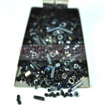 Japanese mixed beads - Jet - 30g