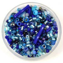 Japán gyöngy mix - kék - 10g