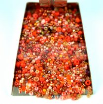 Japanese mixed beads - Orange - 30g