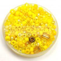 Japán gyöngy mix - sárga - 10g