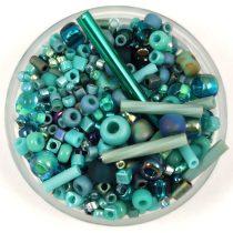 Japán gyöngy mix -  Turquoise - 10g