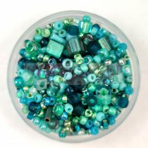 Japán gyöngy mix -  Turquoise - 30g