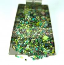 Japanese mixed beads - Green - 30g