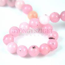 Jáspis golyó gyöngy - cherry blossom - 8mm - szálon