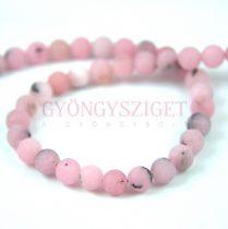 Jáspis golyó gyöngy - cherry blossom matt - 6mm - szálon