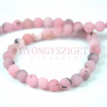 Jáspis golyó gyöngy - cherry blossom matt - 8mm - szálon