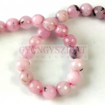 Jasper round bead -  faceted - cherry blossom - 6mm - strand