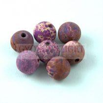 Jáspis golyó - tengeri üledékes - színezett matt lila  - 8mm