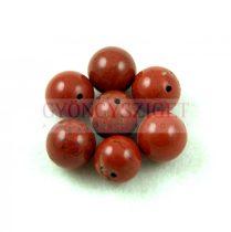 Jáspis golyó - vörös - 10mm