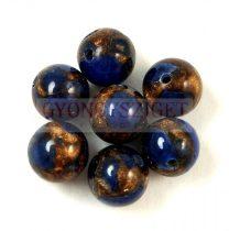 Jáspis golyó - szintetikus - kék - 8mm